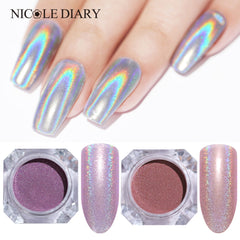 Holographic Nail Powder 2pcs
