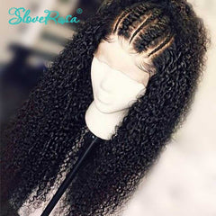 Curly Lace Front Malaysia Remy Human Hair Wig