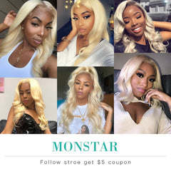 13x4 Ear to Ear Lace Frontal Closure Brazilian Remy Human Blonde Hair