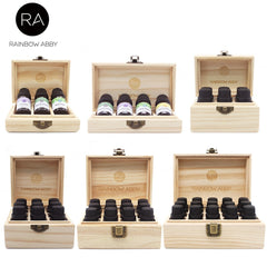 Pine Wooden Essential Oil Natural Boxes 5-15ml