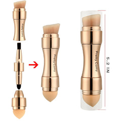 4 in 1 Multi-Function Gold Makeup Brushe Set