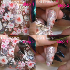 Holographic Foil Wrap Nail Art Stickers