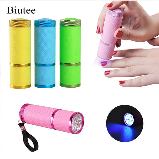 Portable Mini LED Nail Dryer Curing Lamp Flashlight Torch for UV Gel Nail Polish