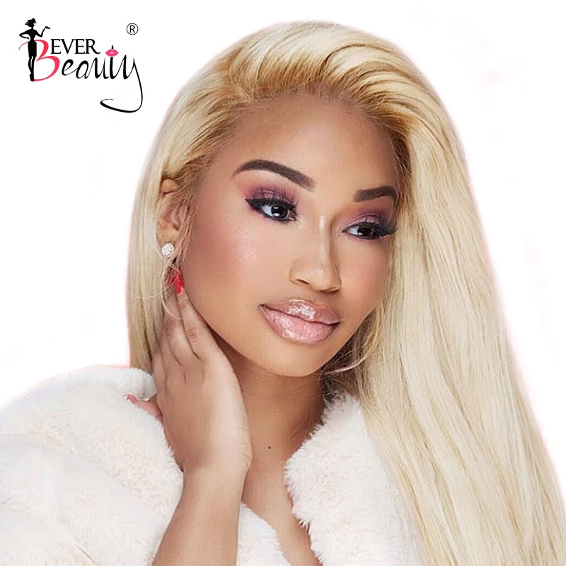 Lace Front Human Hair 613 Honey Blonde Wig