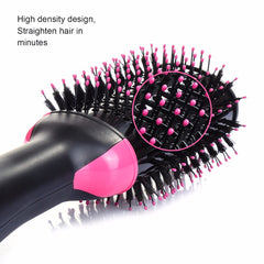 Hair Dryer Brush 2 In 1 Hair Straightener Curler Comb