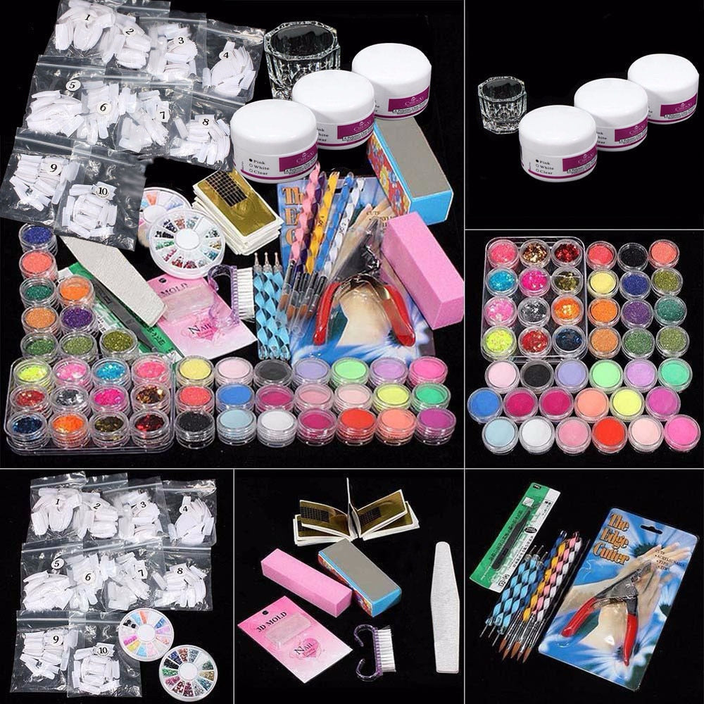 Professional Manicure & Pedicure Acrylic Kit