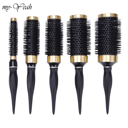 Ceramic Iron Hair Brush Anti-static High Temperature Resistant Round Barrel Comb