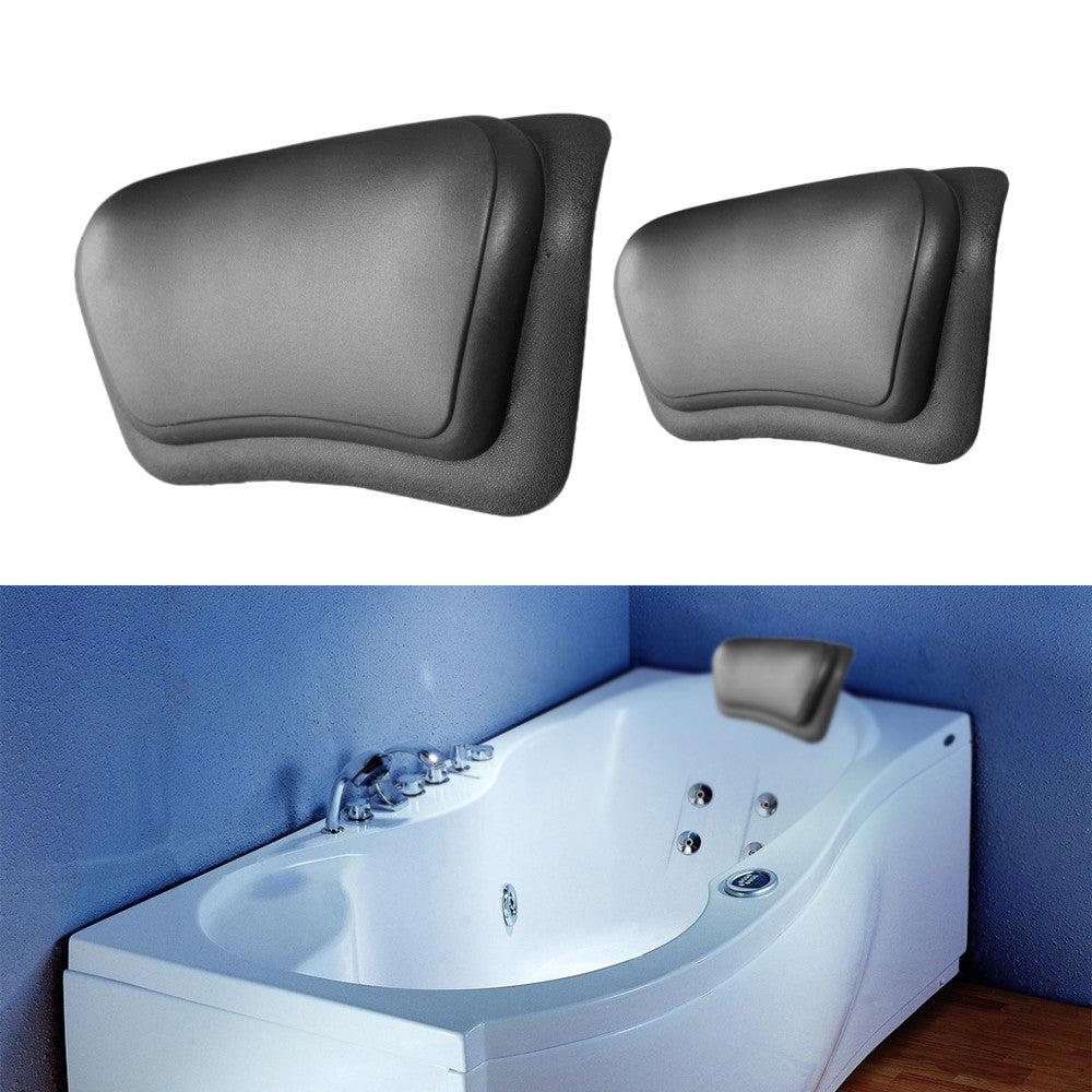 New Eco-Friendly Comfortable SPA Bath Pillow Headrest Suction Cup Bathtub Soft Pillows Bathroom Products