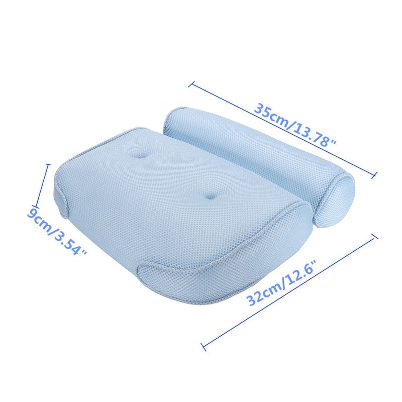 3D Bathtub Cushions Pillow With Sucker Anti-skid Spa Bath Pillows Home