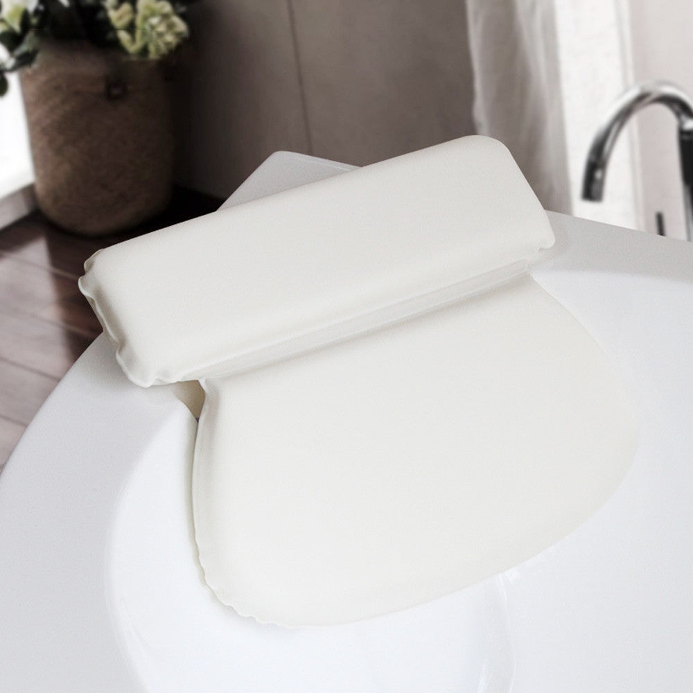 Spa Bath Pillow Powerful Suction Cups Extra Soft 2-Panel Design for Shoulder