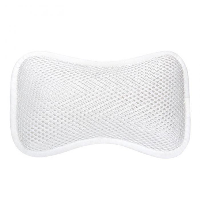 Spa Bath Pillow With 2 Suction Cup Head Shoulder Neck Support Non-Slip Mesh Tub Pillows