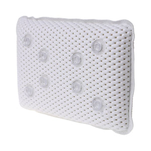 Non-slip Bathtub Pillow Soft Bath SPA Headrest Waterproof With Suction Cups