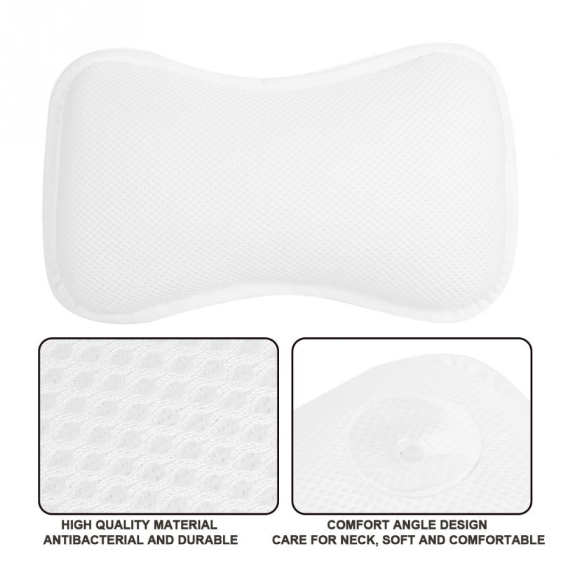 Professional Bathtub Bone Pillow Neck Bath Suction Cups Cushion
