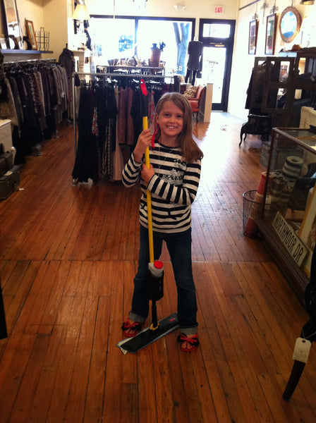 Little L mopping up a storm at Silk&Burlap