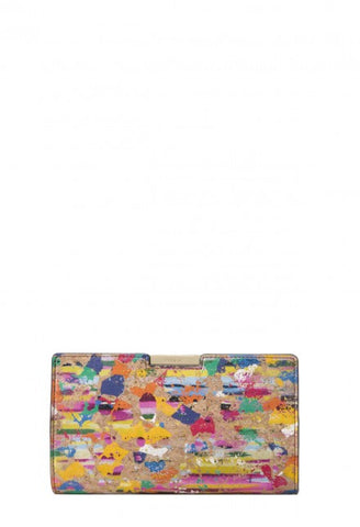 SPLATTER CORK SMALL FRAME CLUTCH