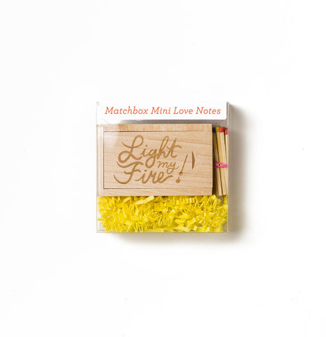 LIGHT MY FIRE MINI LOVE NOTES BOX SET
