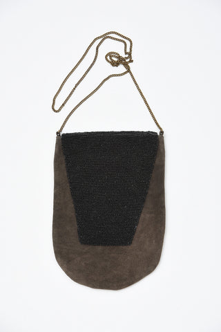 MANIDO SUEDE BEADED BAG