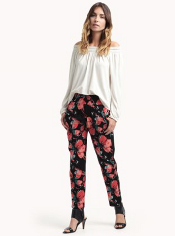 PULL ON FIORE FLOWER PANT