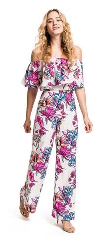 FLORAL SPENCER PANTS