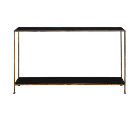BLACK/GOLD METAL CONSOLE