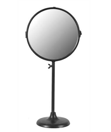 METAL 2 SIDED INDUSTRIAL MIRROR ON STAND