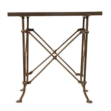 RECTANGLE BRONZE METAL TABLE