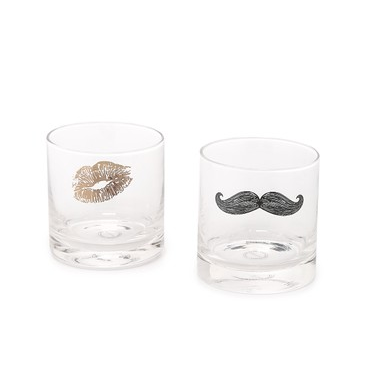 THE TICKLE & KISS GLASSWARE