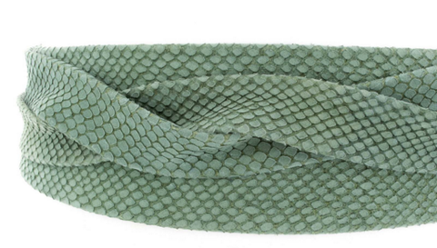 SNAKE EMBOSSED LEATHER WRAP BELT