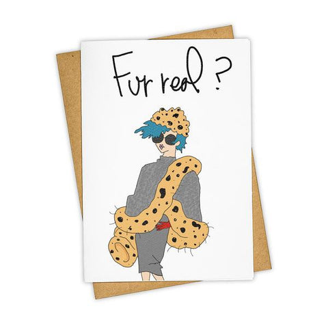 FUR REAL? CARD