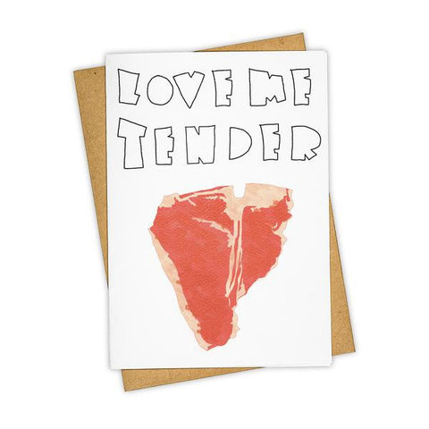 LOVE ME TENDER CARD