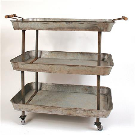 3 TIER METAL CART