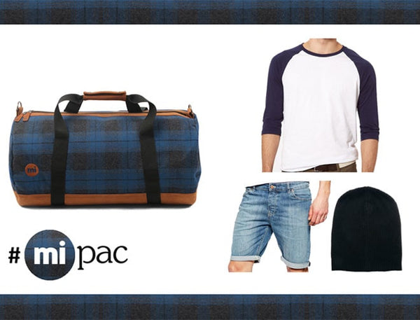 How to wear a Mi-Pac: The Blue Plaid Duffel