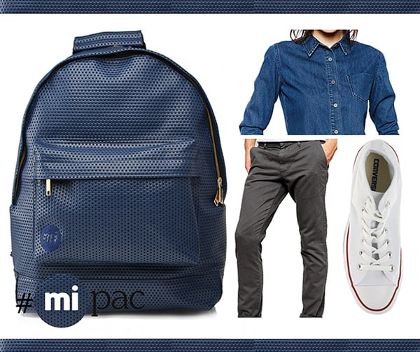 How to wear a Mi-Pac: The Blue Perforated Backpack
