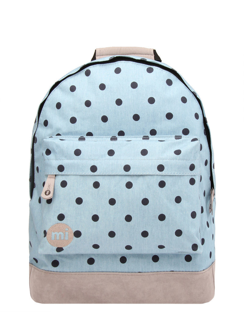 Mi-Pac Backpack - Denim Polka Denim Black