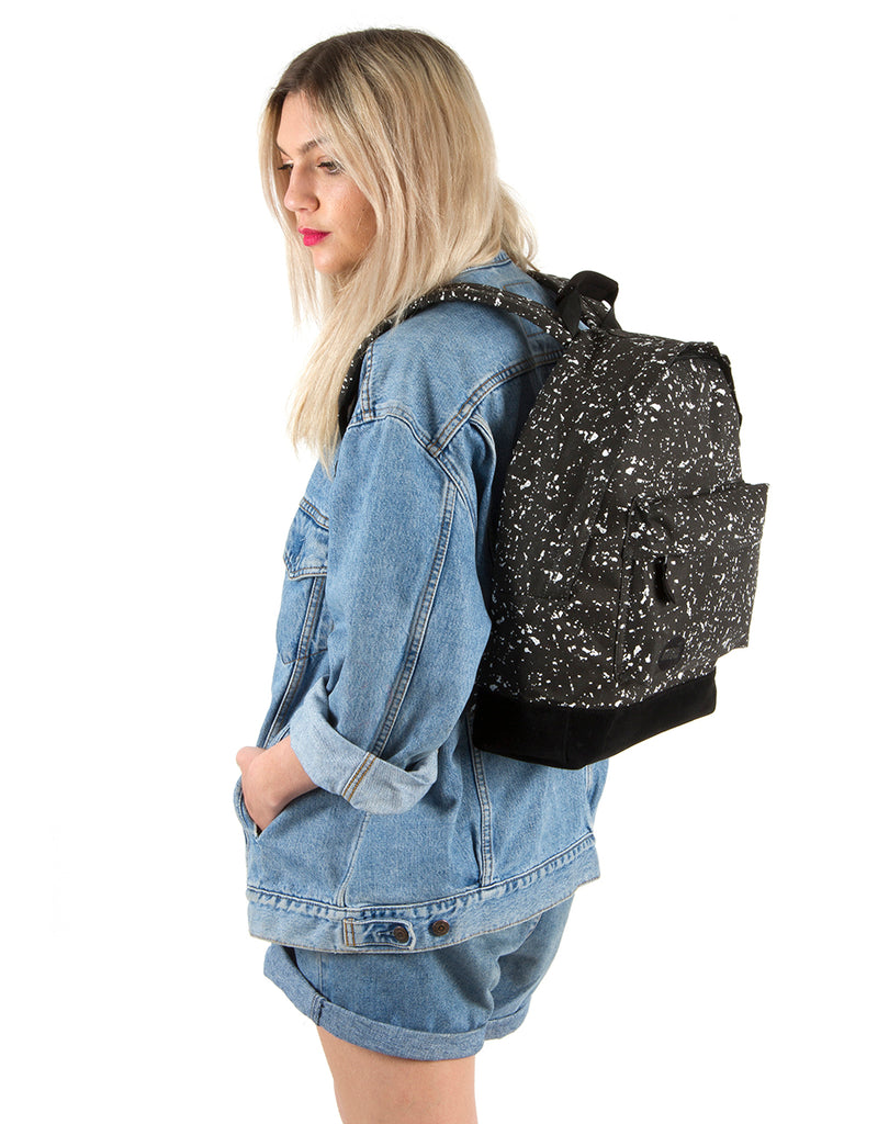 Mi-Pac Backpack - Splattered Black/White