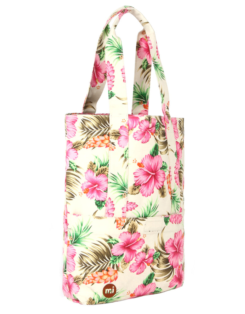 Mi-Pac Tote - Tropical Hibiscus Natural
