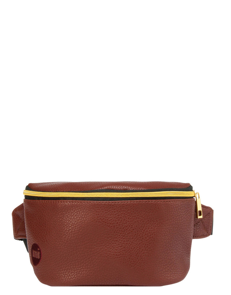 Mi-Pac Gold Bum Bag - Tumbled Brown