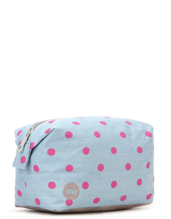 Mi-Pac Wash Bag - Denim Polka Pink