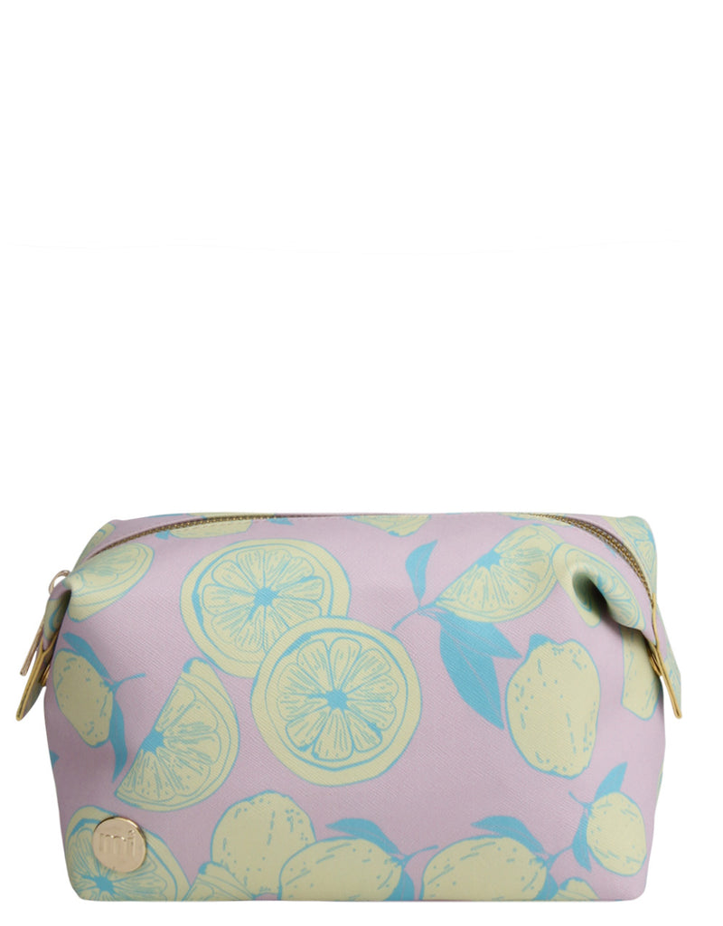 Mi-Pac Gold Wash Bag - Citrus Pop Pink