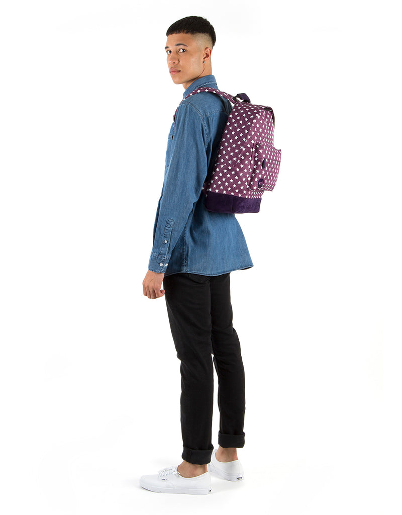 Mi-Pac Backpack - All Stars Plum/Navy