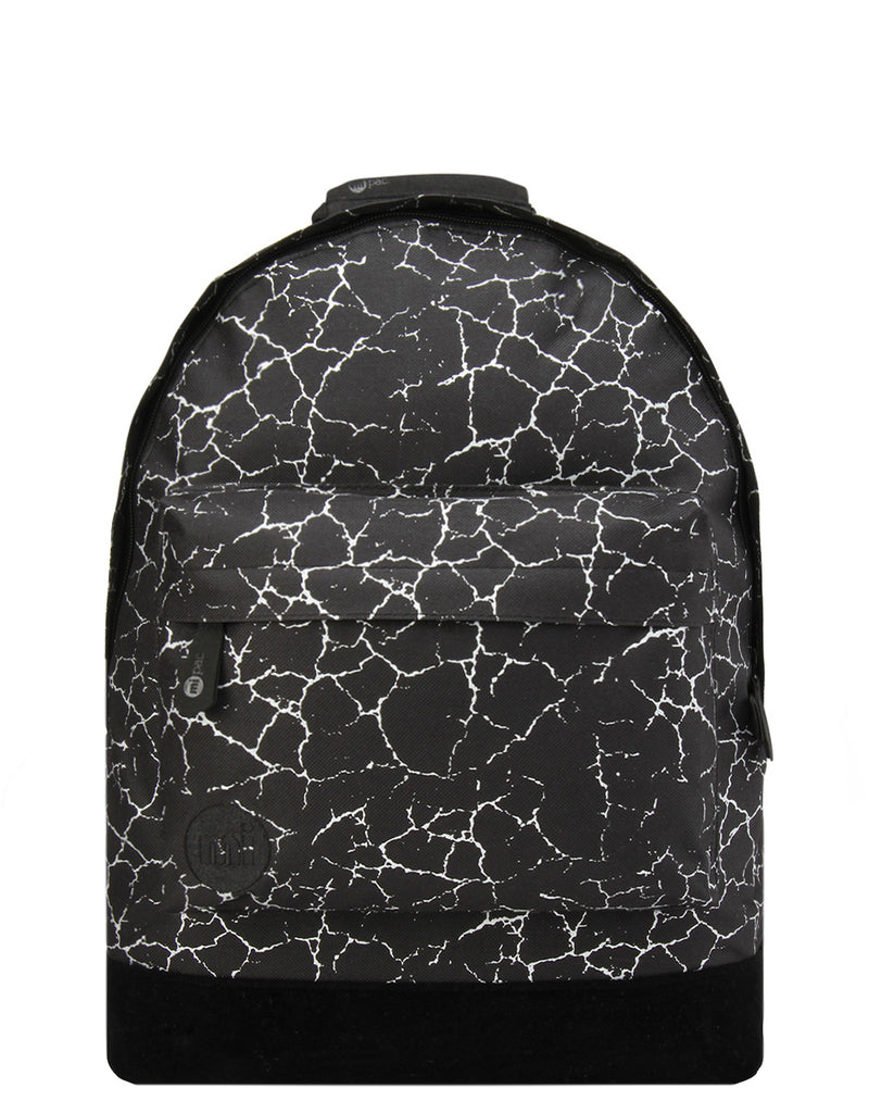 Mi-Pac Backpack - Cracked Black/Silver