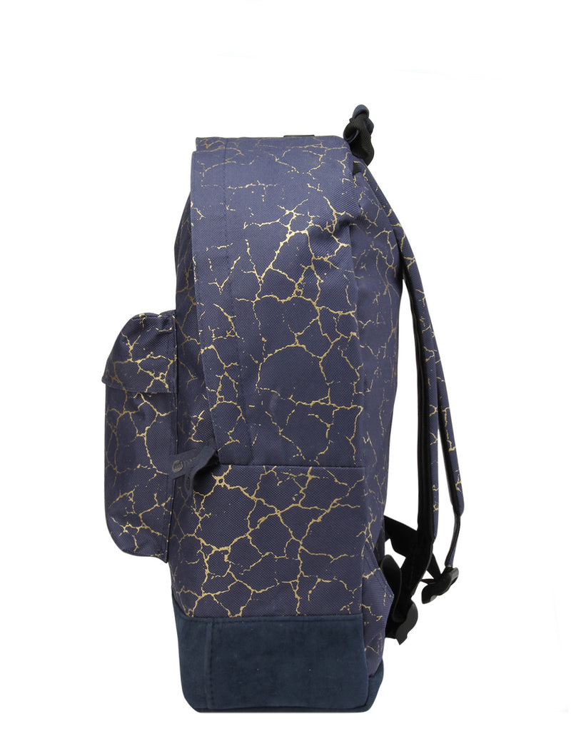 Mi-Pac Backpack - Cracked Navy/Gold