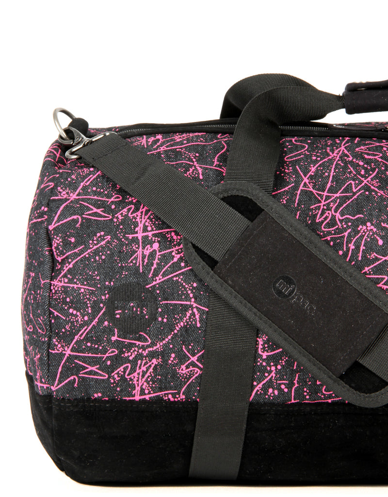 Mi-Pac Duffel - Denim Squiggle Black/Pink