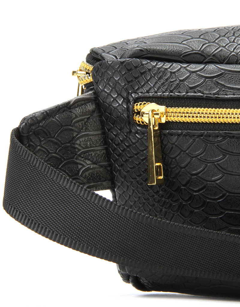 Mi-Pac Gold Bum Bag - Python Black