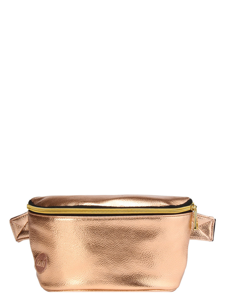 Mi-Pac Gold Bum Bag - Metallic Rose Gold