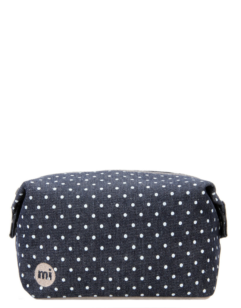 Mi-Pac Wash Bag - Denim Spot Indigo/White