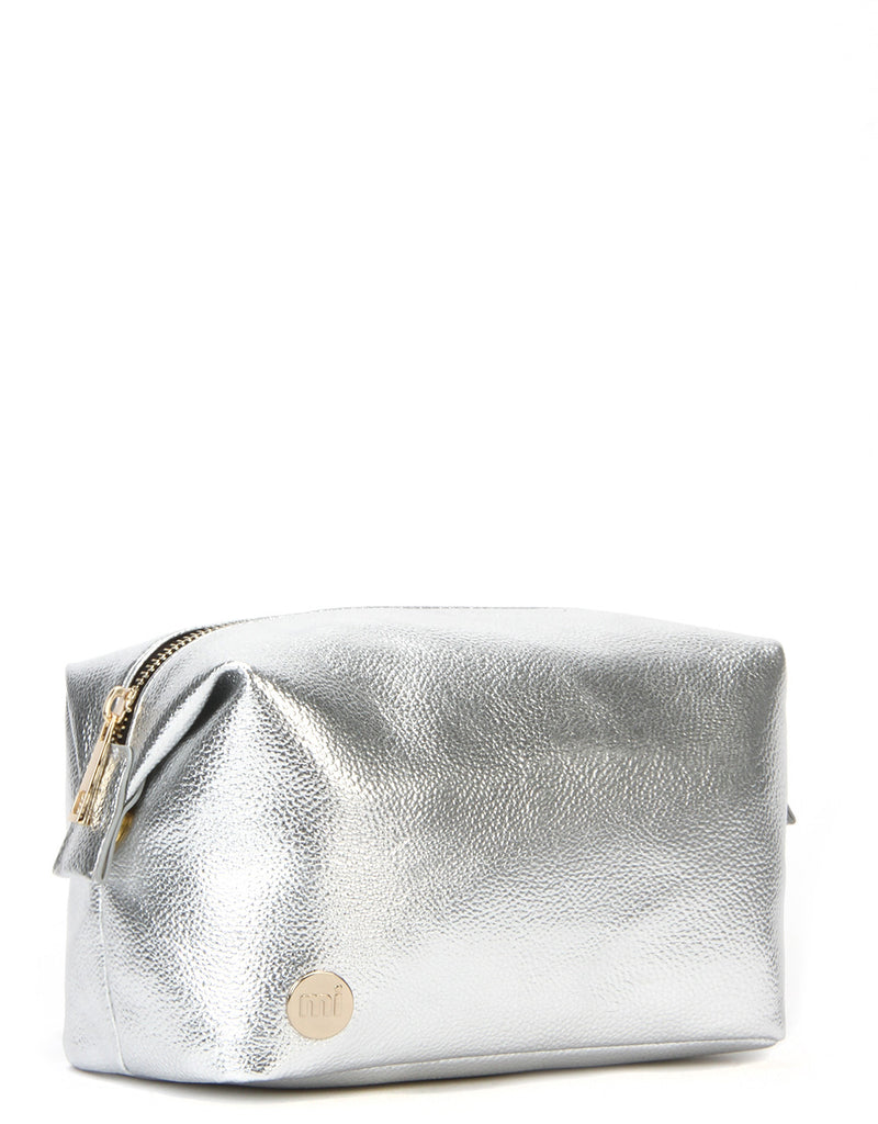 Mi-Pac Gold Wash Bag - Metallic Silver