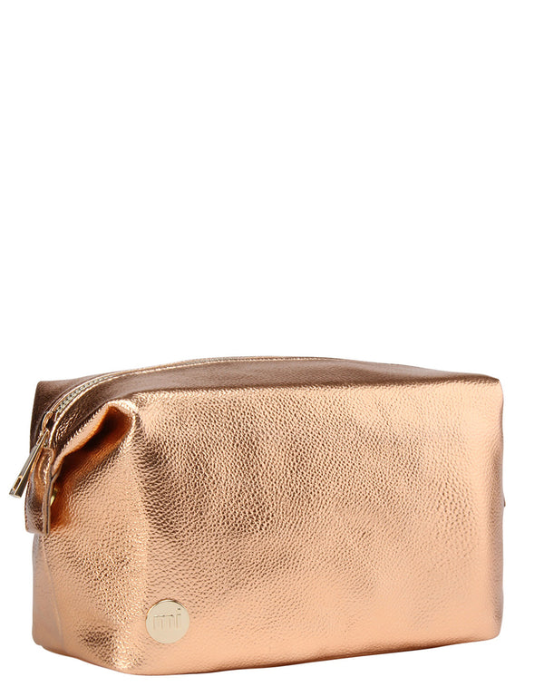 Mi-Pac Gold Wash Bag - Metallic Rose Gold