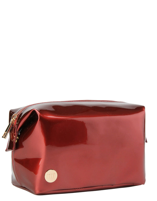 Mi-Pac Gold Wash Bag - Patent Red