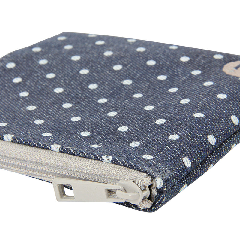 Mi-Pac Coin Holder - Denim Spot Indigo/White